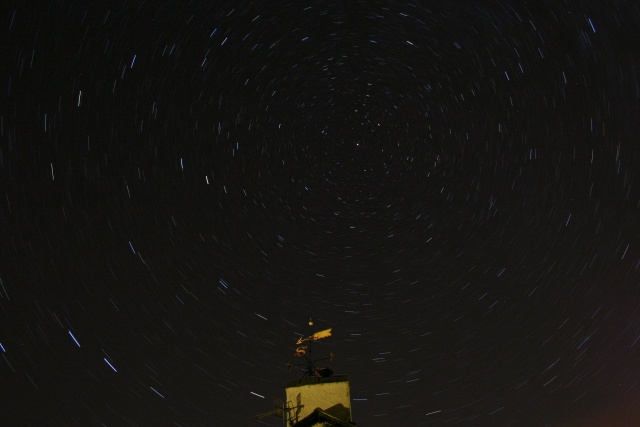Star trails around Polaris