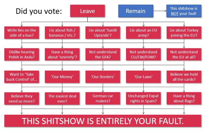 Brexit shitshow flowchart