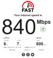 Netflix speed test results