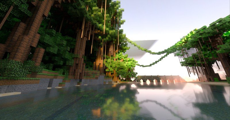 Minecraft with simulated raytraced light