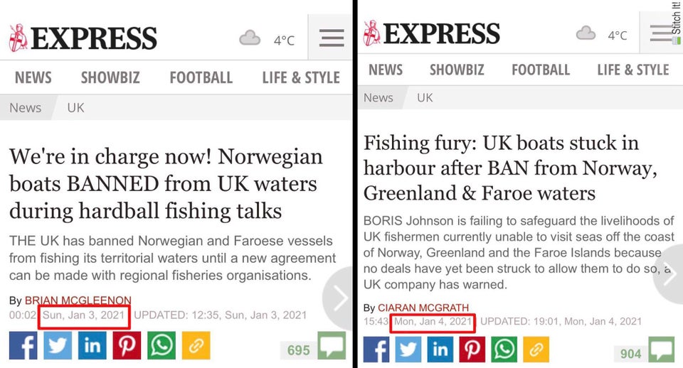 The Express's fishing narrative