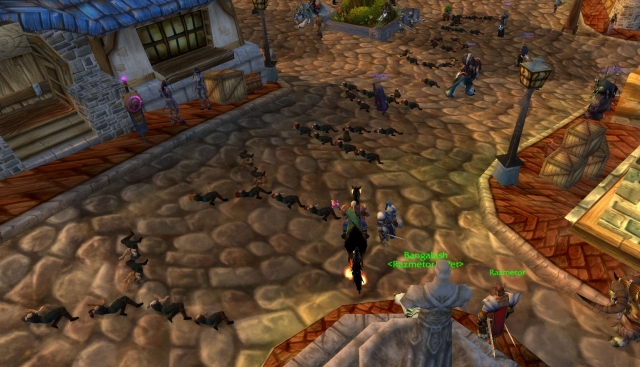 Spamming in World of Warcraft using corpses